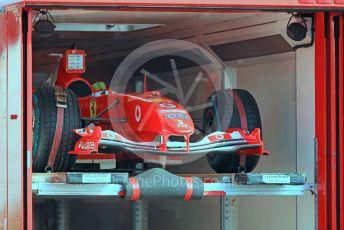 World © Octane Photographic Ltd. Formula 1 – German GP - Paddock. Scuderia Ferrari F2o04 to be driven by Michael Schumacher's son, Mick Schumacher – . Hockenheimring, Hockenheim, Germany. Friday 26th July 2019.