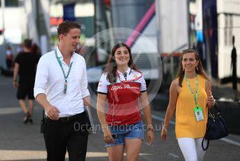 World © Octane Photographic Ltd. Formula 1 - German GP - Paddock. Tatiana Calderon - Development Driver Alfa Romeo Racing. Hockenheimring, Hockenheim, Germany. Friday 26th July 2019.