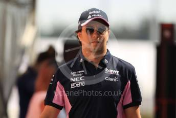 World © Octane Photographic Ltd. Formula 1 – German GP - Paddock. SportPesa Racing Point RP19 - Sergio Perez. Hockenheimring, Hockenheim, Germany. Thursday 25th July 2019.