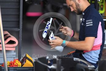 World © Octane Photographic Ltd. Formula 1 – German GP - Paddock. SportPesa Racing Point RP19. Hockenheimring, Hockenheim, Germany. Thursday 25th July 2019.