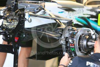 World © Octane Photographic Ltd. Formula 1 – German GP - Paddock. Mercedes AMG Petronas Motorsport AMG F1 W10 EQ Power+. Hockenheimring, Hockenheim, Germany. Thursday 25th July 2019.