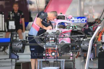 World © Octane Photographic Ltd. Formula 1 – German GP - Paddock. SportPesa Racing Point RP19 - Sergio Perez. Hockenheimring, Hockenheim, Germany. Thursday 25th July 2019.