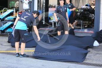 World © Octane Photographic Ltd. Formula 1 – German GP - Paddock. Williams receive items for the car. Hockenheimring, Hockenheim, Germany. Thursday 25th July 2019.
