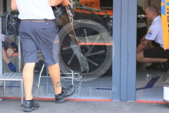 World © Octane Photographic Ltd. Formula 1 – German GP - Paddock. McLaren MCL34. Hockenheimring, Hockenheim, Germany. Thursday 25th July 2019.