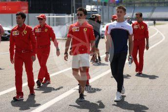 World © Octane Photographic Ltd. Formula 1 – German GP - Track walk. Scuderia Ferrari SF90 – Charles Leclerc and brother Arthur Leclerc. Hockenheimring, Hockenheim, Germany. Thursday 25th July 2019.
