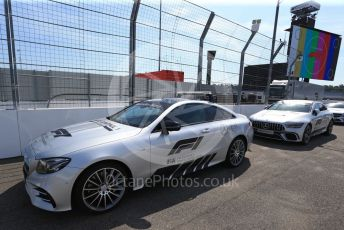 World © Octane Photographic Ltd. Formula 1 – German GP  - Track walk. Safety car with 125 years of Mercedes logos. Hockenheimring, Hockenheim, Germany. Thursday 25th July 2019.