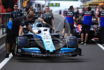 World © Octane Photographic Ltd. Formula 1 – Hungarian GP - Pitlane. ROKiT Williams Racing FW 42 – George Russell and Scuderia Toro Rosso STR14. Hungaroring, Budapest, Hungary. Thursday 1st August 2019.