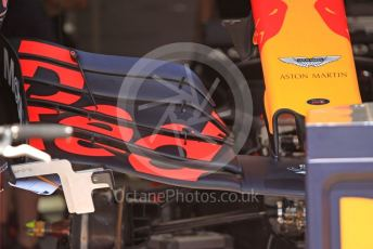 World © Octane Photographic Ltd. Formula 1 – Hungarian GP - Pitlane. Aston Martin Red Bull Racing RB15. Hungaroring, Budapest, Hungary. Thursday 1st August 2019.