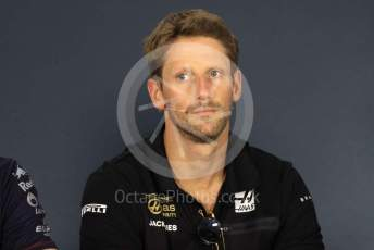 World © Octane Photographic Ltd. Formula 1 – Hungarian GP. FIA Drivers Press Conference. Rich Energy Haas F1 Team – Romain Grosjean. Hungaroring, Budapest, Hungary. Thursday 1st August 2019.