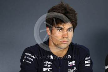 World © Octane Photographic Ltd. Formula 1 – Hungarian GP. FIA Drivers Press Conference. SportPesa Racing Point – Lance Stroll. Hungaroring, Budapest, Hungary. Thursday 1st August 2019.