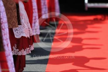 World © Octane Photographic Ltd. Formula 1 – Hungarian GP - Drivers Parade. Men and women in traditional dress. Hungaroring, Budapest, Hungary. Sunday 4th August 2019.