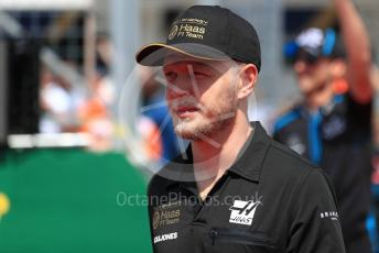 World © Octane Photographic Ltd. Formula 1 – Hungarian GP - Drivers Parade. Rich Energy Haas F1 Team VF19 – Kevin Magnussen. Hungaroring, Budapest, Hungary. Sunday 4th August 2019.