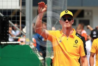 World © Octane Photographic Ltd. Formula 1 – Hungarian GP - Drivers Parade. Renault Sport F1 Team RS19 – Nico Hulkenberg. Hungaroring, Budapest, Hungary. Sunday 4th August 2019.