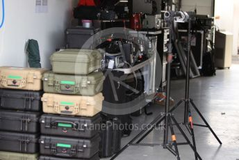 World © Octane Photographic Ltd. Formula 1 – Hungarian GP - Practice 1. F1 Tv Equipment storage. Hungaroring, Budapest, Hungary. Friday 2nd August 2019.