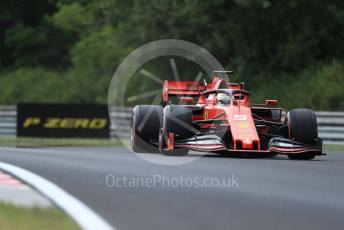 World © Octane Photographic Ltd. Formula 1 – Hungarian GP - Practice 1. Scuderia Ferrari SF90 – Sebastian Vettel. Hungaroring, Budapest, Hungary. Friday 2nd August 2019.