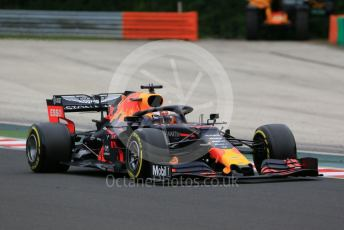 World © Octane Photographic Ltd. Formula 1 – Hungarian GP - Practice 2. Aston Martin Red Bull Racing RB15 – Max Verstappen. Hungaroring, Budapest, Hungary. Friday 2nd August 2019.