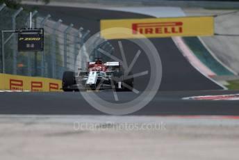 World © Octane Photographic Ltd. Formula 1 – Hungarian GP - Practice 2. Alfa Romeo Racing C38 – Kimi Raikkonen. Hungaroring, Budapest, Hungary. Friday 2nd August 2019.