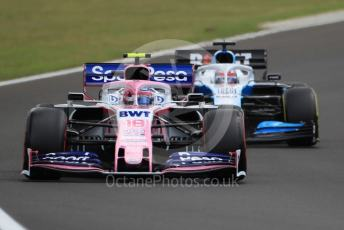 World © Octane Photographic Ltd. Formula 1 – Hungarian GP - Practice 3. SportPesa Racing Point RP19 – Lance Stroll and ROKiT Williams Racing FW 42 – George Russell. Hungaroring, Budapest, Hungary. Saturday 3rd August 2019.