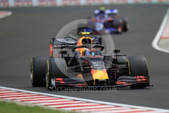 World © Octane Photographic Ltd. Formula 1 – Hungarian GP - Practice 3. Aston Martin Red Bull Racing RB15 – Pierre Gasly and Scuderia Toro Rosso STR14 – Alexander Albon. Hungaroring, Budapest, Hungary. Saturday 3rd August 2019.