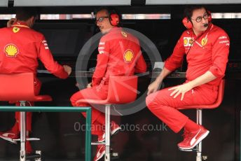 World © Octane Photographic Ltd. Formula 1 - Hungarian GP - Practice 3. Laurent Mekies – Sporting Director and Mattia Binotto – Team Principal of Scuderia Ferrari. Hungaroring, Budapest, Hungary. Saturday 3rd August 2019.