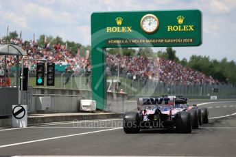 World © Octane Photographic Ltd. Formula 1 – Hungarian GP - Practice 3. Scuderia Toro Rosso STR14 – Daniil Kvyat and SportPesa Racing Point RP19 - Sergio Perez. Hungaroring, Budapest, Hungary. Saturday 3rd August 2019.