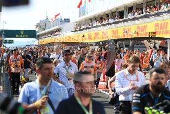 World © Octane Photographic Ltd. Formula 1 – Hungarian GP - Podium. Crowds in the pitlane ready for podium ceremony. Hungaroring, Budapest, Hungary. Sunday 4th August 2019.
