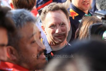 World © Octane Photographic Ltd. Formula 1 - Hungarian GP - Parc Ferme. Christian Horner - Team Principal of Red Bull Racing. Hungaroring, Budapest, Hungary. Sunday 4th August 2019.