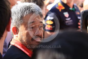 World © Octane Photographic Ltd. Formula 1 - Hungarian GP - Parc Ferme. Masashi Yamamoto - General Manager of Honda's motorsport division. Hungaroring, Budapest, Hungary. Sunday 4th August 2019.