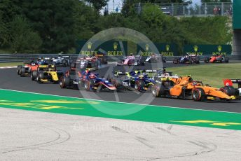 World © Octane Photographic Ltd. FIA Formula 2 (F2) – Hungarian GP - Race 1. Campos Racing - Jack Aitken in the pack. Hungaroring, Budapest, Hungary. Saturday 3rd August 2019.