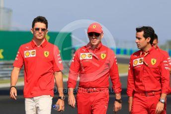 World © Octane Photographic Ltd. Formula 1 – Hungarian GP - Trackwalk. Scuderia Ferrari SF90 – Charles Leclerc. Hungaroring, Budapest, Hungary. Thursday 1st August 2019.