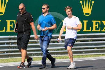 World © Octane Photographic Ltd. FIA Formula 3 (F3) – Hungarian GP – Trackwalk. MP Motorsport - Liam Lawson. Hungaroring, Budapest, Hungary. Thursday 1st August 2019.