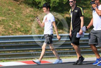 World © Octane Photographic Ltd. FIA Formula 3 (F3) – Hungarian GP – Trackwalk. Carlin Buzz Racing - Teppei Natori. Hungaroring, Budapest, Hungary. Thursday 1st August 2019.