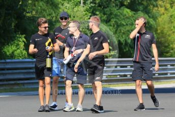 World © Octane Photographic Ltd. FIA Formula 3 (F3) – Hungarian GP – Trackwalk. ART Grand Prix - David Beckmann, Max Fewtrell and Christian Lundgaard. Hungaroring, Budapest, Hungary. Thursday 1st August 2019.