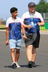 World © Octane Photographic Ltd. FIA Formula 3 (F3) – Hungarian GP – Trackwalk. Sauber Junior Team by Charouz - Raoul Hyman. Hungaroring, Budapest, Hungary. Thursday 1st August 2019.