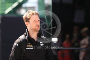 World © Octane Photographic Ltd. Formula 1 – Hungarian GP - Paddock. Rich Energy Haas F1 Team VF19 – Romain Grosjean. Hungaroring, Budapest, Hungary. Saturday 3rd August 2019.