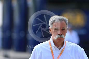 World © Octane Photographic Ltd. Formula 1 - Hungarian GP - Paddock. Chase Carey - Chief Executive Officer of the Formula One Group. Hungaroring, Budapest, Hungary. Saturday 3rd August 2019.