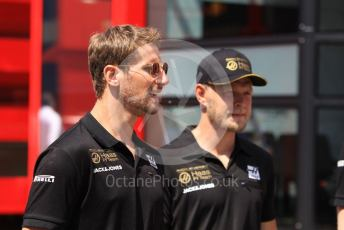 World © Octane Photographic Ltd. Formula 1 – Hungarian GP - Paddock. Rich Energy Haas F1 Team VF19 – Kevin Magnussen and Romain Grosjean. Hungaroring, Budapest, Hungary. Sunday 4th August 2019.