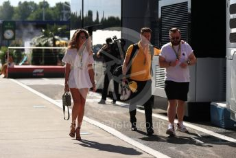 World © Octane Photographic Ltd. Formula 1 - Hungarian GP - Paddock. Elge Ruskyte - Girlfriend of Nico Hulkenberg. Hungaroring, Budapest, Hungary. Sunday 4th August 2019.
