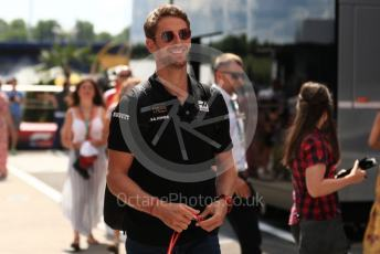 World © Octane Photographic Ltd. Formula 1 – Hungarian GP - Paddock. Rich Energy Haas F1 Team VF19 – Romain Grosjean. Hungaroring, Budapest, Hungary. Sunday 4th August 2019.
