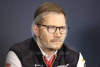 World © Octane Photographic Ltd. Formula 1 - Hungarian GP – Friday FIA Team Press Conference. Andreas Seidl, Team Principle at McLaren. Hungaroring, Budapest, Hungary. Friday 2nd August 2019.