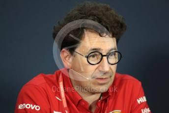 World © Octane Photographic Ltd. Formula 1 - Hungarian GP – Friday FIA Team Press Conference. Mattia Binotto – Team Principal of Scuderia Ferrari. Hungaroring, Budapest, Hungary. Friday 2nd August 2019.