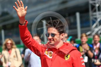 World © Octane Photographic Ltd. Formula 1 – Italian GP - Drivers Parade. Scuderia Ferrari SF90 – Charles Leclerc. Autodromo Nazionale Monza, Monza, Italy. Sunday 8th September 2019.