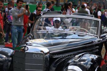 World © Octane Photographic Ltd. Formula 1 – Italian GP - Drivers Parade. Mercedes AMG Petronas Motorsport AMG F1 W10 EQ Power+ - Lewis Hamilton. Autodromo Nazionale Monza, Monza, Italy. Sunday 8th September 2019.