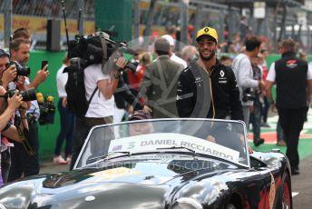 World © Octane Photographic Ltd. Formula 1 – Italian GP - Drivers Parade. Renault Sport F1 Team RS19 – Daniel Ricciardo. Autodromo Nazionale Monza, Monza, Italy. Sunday 8th September 2019.