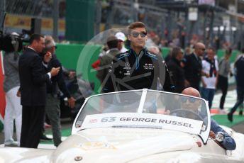 World © Octane Photographic Ltd. Formula 1 – Italian GP - Drivers Parade. ROKiT Williams Racing FW 42 – George Russell. Autodromo Nazionale Monza, Monza, Italy. Sunday 8th September 2019.
