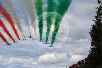 World © Octane Photographic Ltd. Formula 1 – Italian GP - Grid. Frecce Tricolori. Autodromo Nazionale Monza, Monza, Italy. Sunday 8th September 2019.