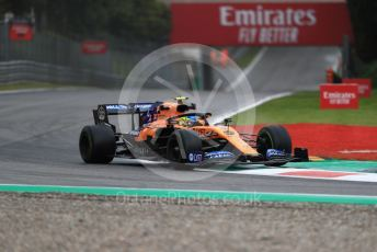 World © Octane Photographic Ltd. Formula 1 – Italian GP - Practice 1. McLaren MCL34 – Lando Norris. Autodromo Nazionale Monza, Monza, Italy. Friday 6th September 2019.