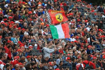 World © Octane Photographic Ltd. Formula 1 – Italian GP - Practice 2. Ferrari fan. Autodromo Nazionale Monza, Monza, Italy. Friday 6th September 2019.
