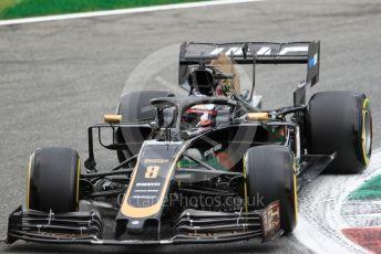 World © Octane Photographic Ltd. Formula 1 – Italian GP - Practice 2. Rich Energy Haas F1 Team VF19 – Romain Grosjean. Autodromo Nazionale Monza, Monza, Italy. Friday 6th September 2019.