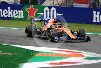 World © Octane Photographic Ltd. Formula 1 – Italian GP - Practice 2. McLaren MCL34 – Carlos Sainz. Autodromo Nazionale Monza, Monza, Italy. Friday 6th September 2019.